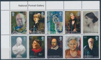 2006 Nemzeti Portré Galéria ívsarki tízestömb Mi 2420-2429