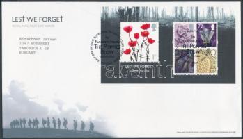 2006 Somme csata 90. évfordulója blokk Mi 33 FDC-n