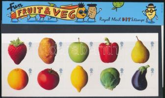 2003 Zöldségek és gyümölcsök öntapadós, fólia ív Mi 2092I-2101I díszcsomagolásban