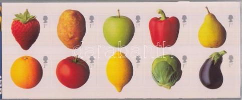2003 Zöldségek és gyümölcsök öntapadós, fólia ív Mi 2092I-2101I