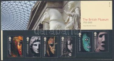 2003 250 éves a British Múzeum sor Mi 2158-2163 díszcsomagolásban