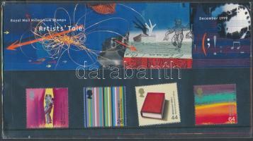 1999 Ezredforduló művészet sor Mi 1835-1838 díszcsomagolásban