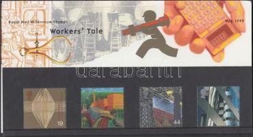 1999 Millennium (V): fejlődés a munka világában sor Mi 1805-1808 díszcsomagolásban