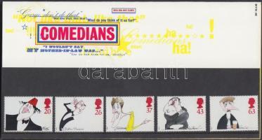 1998 Kariakatúrák, híres komikusok sor Mi 1749-1753 díszcsomagolásban