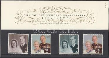 1997 A királyi pár aranylakodalma sor Mi 1719-1722 díszcsomagolásban