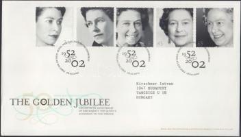 2002 II Erzsébet sor Mi 1981Y-1985Y FDC-n
