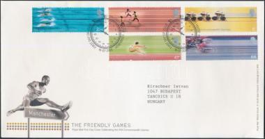 2002 Nemzeti játékok Manchester sor Mi 2033-2037 FDC-n