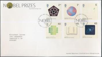 2001 100 éves a Nobel-díj sor Mi 1954-1959 FDC-n