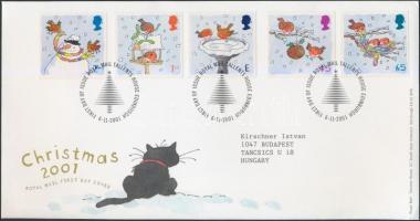 2001 Karácsony sor Mi 1966-1970 FDC-n