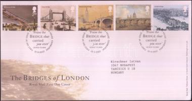2002 A Temze hídjai Londonban sor Mi 2043-2047 FDC-n