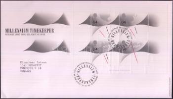 1999 Az ezredforduló (XIII) blokk Mi 8 FDC-n