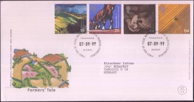 1999 Millennium (IX): fejlesztések a mezőgazdaságban sor Mi 1823-1826 FDC-n
