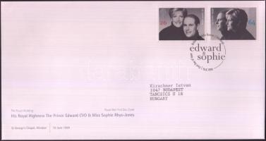 1999 Edward herceg és Sophie esküvője sor Mi 1813-1814 FDC-n