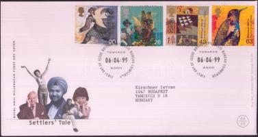 1999 Millennium (IV): Vándorlás sor Mi 1797-1800 FDC-n