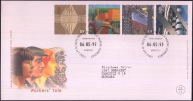 1999 Millennium (V): fejlődés a munka világában sor Mi 1805-1808 FDC-n