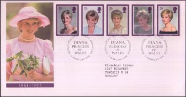 1998 Lady Diana sor Mi 1729-1733 FDC-n