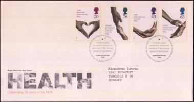 1998 50 éves a Nemzetközi Egészségügyi Szolgálat sor Mi 1754-1757 FDC-n