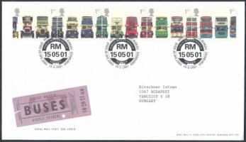 2001 Emeletes buszok ötöscsík Mi 1933-1937 FDC-n