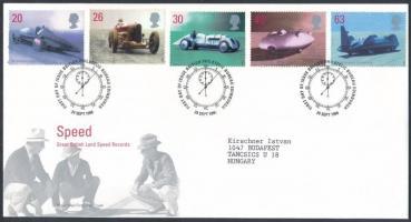 1998 Járművek sor Mi 1767-1771 FDC-n
