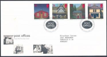 Centenary of British postmaster association set FDC, 100 éves a brit postamesteri szövetség sor FDC-n
