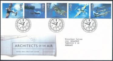 1997 Repülőgép tervezők sor Mi 1696-1700 FDC-n