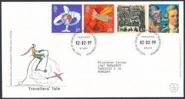 1999 Millennium (II): Közlekedésfejlesztés sor Mi 1782-1785 FDC-n