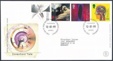 1999 Millennium (I): találmányok és fejlesztések sor Mi 1777-1780 FDC-n