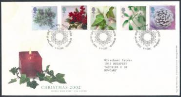 2002 Karácsony sor Mi 2058-2062 FDC-n