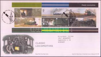 2004 Történelmi vonatok blokk Mi 18 FDC-n