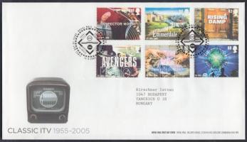 2005 50 éves a televíziózás sor Mi 2332-2337 FDC-n