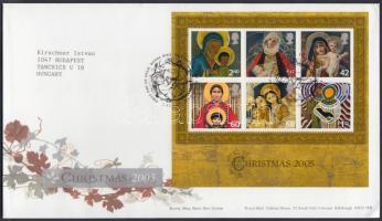 2005 Karácsony blokk Mi 29 FDC-n