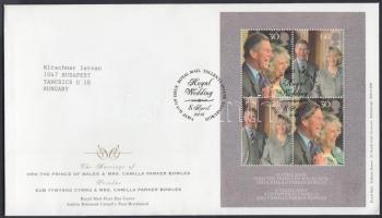 2005 Károly herceg esküvője blokk Mi 24 FDC-n