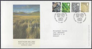 Észak Írország 2001 Forgalmi bélyeg sor Mi 81-84 FDC-n