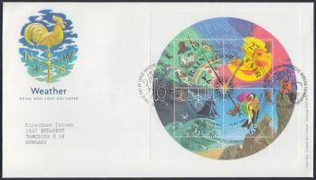 2001 Időjárás blokk Mi 10 FDC-n