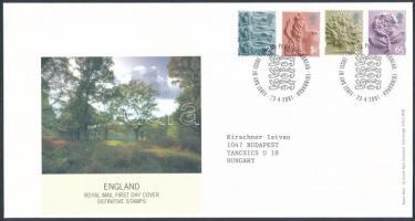 2001 Forgalmi bélyeg sor Mi 1-4 FDC-n