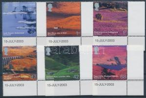 2003 Brit tájképek ívsarki sor Mi 2140-2145