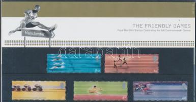 2002 Nemzeti játékok Manchester sor Mi 2033-2037 díszcsomagolásban