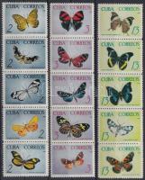 Butterfly set 3 stripe of 5, Lepke sor 3 ötöscsíkban