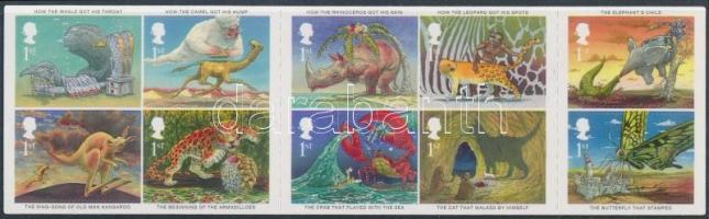 2002 Kipling meseillusztrációk öntapadós tizestömb Mi 1971-1980
