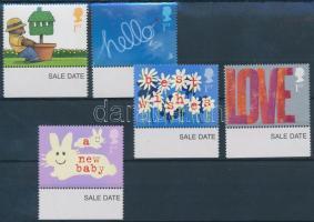 2002 Üdvözlő bélyegek ívszéli sor Mi 1988-1992