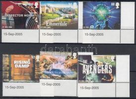2005 50 éves a televíziózás ívsarki sor Mi 2332-2337