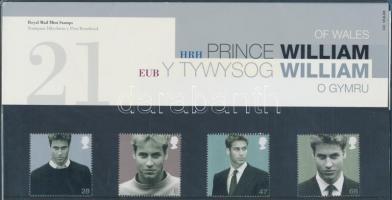 2003 Vilmos herceg 21. születésnapja sor Mi 2132-2135 díszcsomagolásban