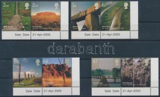 2005 UNESCO: Természet ívsarki sor párokban Mi 2300-2307