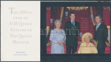 2000 Erzsébet anyakirálynő 100 éves blokk Mi 9 díszcsomagolásban