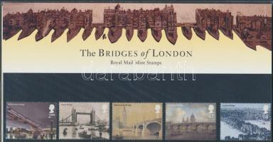 2002 A Temze hídjai Londonban sor Mi 2043-2047 díszcsomagolásban