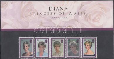 1998 Lady Diana ötöscsík Mi 1729-1733 díszcsomagolásban