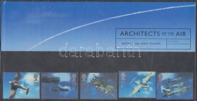 1997 Repülőgép tervezők sor Mi 1696-1700 díszcsomagolásban