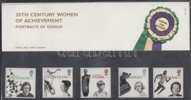 1996 Híres nők, benne Europa CEPT bélyegek sor Mi 1647-1651 díszcsomagolásban