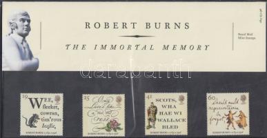 1996 Robert Burns halálának 200. évfordulója sor Mi 1601-1604 díszcsomagolásban
