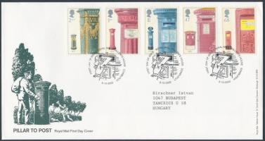 2002 Postaládák sor Mi 2053-2057 FDC-n